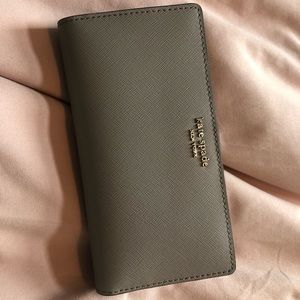 Kate Spade Slim Bifold Wallet in grey